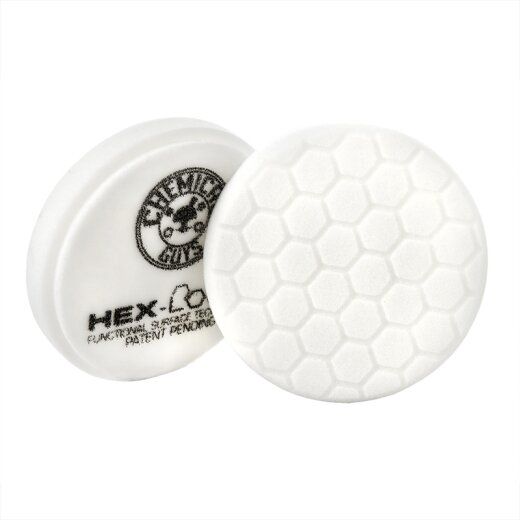 Chemical Guys Hex Logic Finishing-Pad Polierpad - Weiss 75 mm / 4 Inch